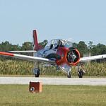 Date:  10/22/16 - Location:  KPGD Dep/Arv/Enr:  Arv - RW/Taxi/Ramp:  RW33 Manufacturer:  North American Aviation Model:  T-28C - Reg/Nmb:  NX7160C Markings:  747-D/NAVY/VT-27/T-28C/146262/NX ...