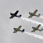 Date:  11/06/16 - Location:  KSUA Dep/Arv/Enr:  Enr - RW/Taxi/Ramp:  n/a Manufacturer:  North American Aviation Model:  T-28 - RegNmb:  various - SerBuNo:  various Markings:  various Misc: