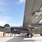 Date: 2/14/12 - Location: KSRQ Dep/Arv/Enr: n/a - RW/Taxi/Ramp: Rectrix ramp Manufacturer: Consolidated Aircraft Model: B-24J - Reg/Nmb: N224J Markings: Audre/